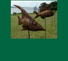 Sculptures on Edge-Fish on sticks,Australia 2015 Unisex T-Shirt
