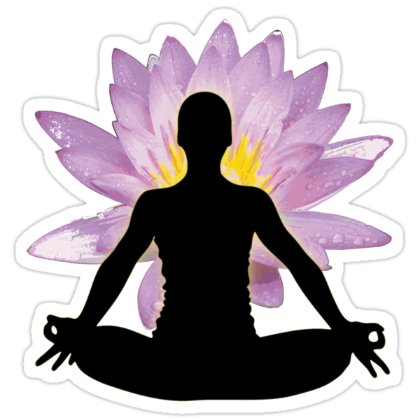 Yoga Lotus Pose - Meditation  by designerjenb