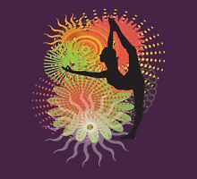 Yoga Dancer Pose Womens Fitted T-Shirt