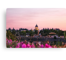 Washinton State Capitol Pink Sunset Canvas Print