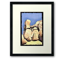 c9-Boulder Shapes Framed Print