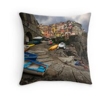 Row Boats. Throw Pillow