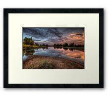 Mirror Bend Framed Print
