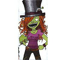 Zombie Gamer Girl Photographic Print