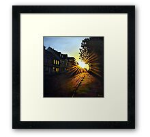 Morning Light and Side Street Shadows. Framed Print