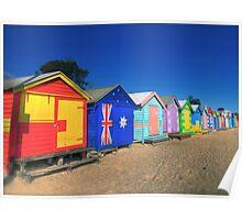 Brighton Beach, Victoria Australia. Poster