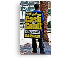Canal Street Walking Billboard Canvas Print
