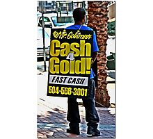 Canal Street Walking Billboard Photographic Print