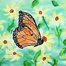 At last I made a butterfly,,,watercolor by Anna  Lewis