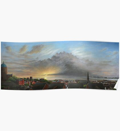 View Out To Sea - New Brighton Storm Poster
