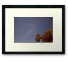 30 second exposure at night sky Framed Print