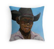 Portrait of Poppa Fred Throw Pillow