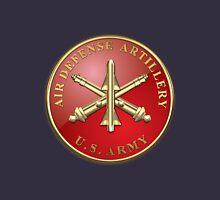 Air Defense Artillery - ADA Branch Insignia over Blue Velvet Unisex T-Shirt