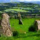 Beltany Stone Circle, Donegal, Ireland by Dennis Melling