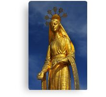 Golden Virgin Mary Canvas Print