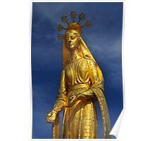 Golden Virgin Mary Poster