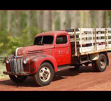 Vintage Ford Farm Truck by Keith Hawley