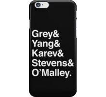 Greys Anatomy Original 5 - White Lettering iPhone Case/Skin
