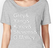 Greys Anatomy Original 5 - White Lettering Women's Relaxed Fit T-Shirt
