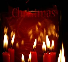Merry Christmas Candles by Denise Abé