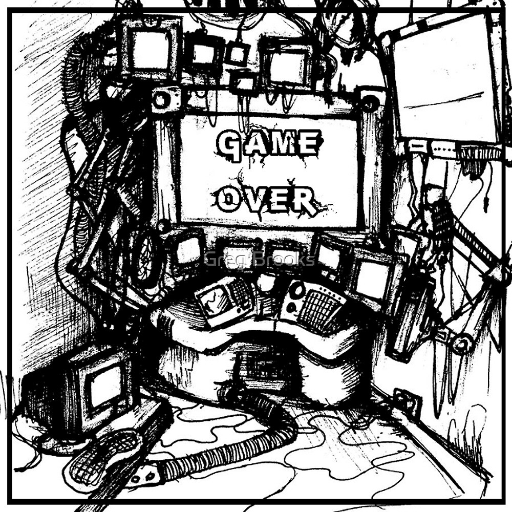 CPU Heaven Linework by Greg Brooks