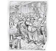 Adolf Oberländer or Oberlander Glaspalast München 1883 122 Poster