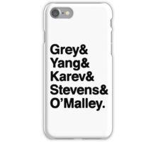 Greys Anatomy Original 5 - Black lettering iPhone Case/Skin