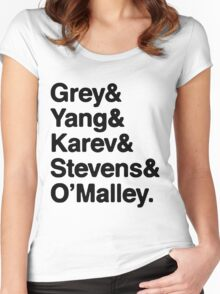 Greys Anatomy Original 5 - Black lettering Women's Fitted Scoop T-Shirt
