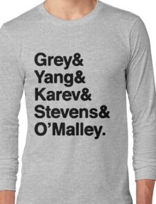 Greys Anatomy Original 5 - Black lettering Long Sleeve T-Shirt