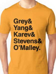 Greys Anatomy Original 5 - Black lettering Unisex T-Shirt