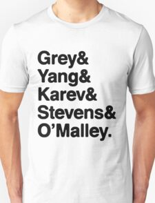 Greys Anatomy Original 5 - Black lettering T-Shirt