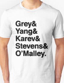 Greys Anatomy Original 5 - Black lettering T-Shirt