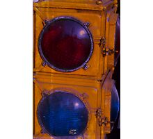 Red light Blue light Photographic Print