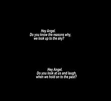 One Direction Hey Angel Lyric White Text by Itzmiri