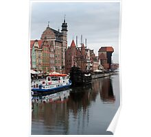 The Gdańsk waterfront Poster