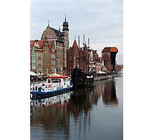 The Gdańsk waterfront Photographic Print