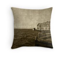 Pier by the Sound Throw Pillow