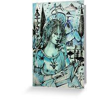 Lucrezia In Blue  Greeting Card