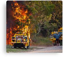 bush fire season  Canvas Print