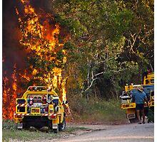 bush fire season  Photographic Print