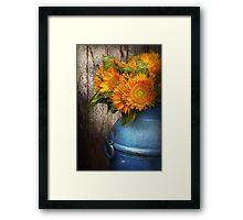 Flower - Sunflower - Country Sunshine Framed Print