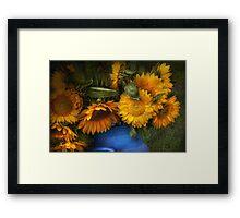 Flower - Sunflower - The suns have risen  Framed Print