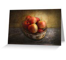 Food - Apples - Apples in a basket  Greeting Card