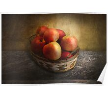 Food - Apples - Apples in a basket  Poster