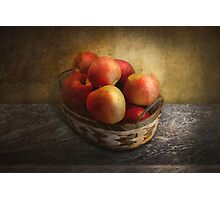Food - Apples - Apples in a basket  Photographic Print