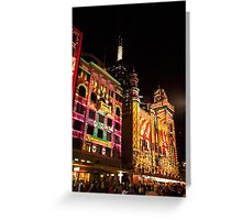 0339 Melbourne - White Night 13 Greeting Card