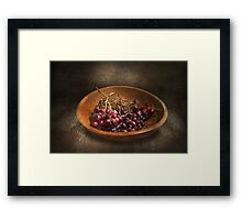 Food - Grapes - A bowl of grapes  Framed Print