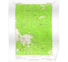 USGS Topo Map Oregon Broken Top 282279 1959 62500 Poster