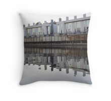 Architecture on the Milwaukee River Throw Pillow