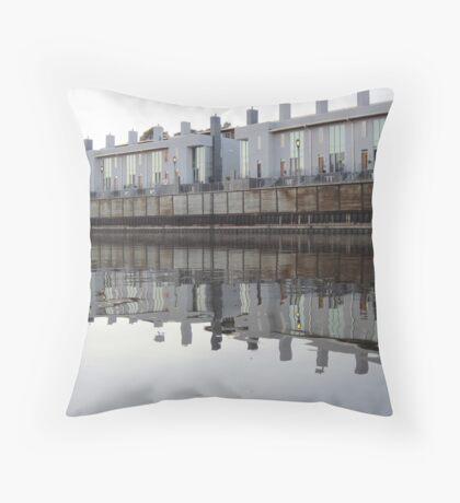 Architecture on the Milwaukee River Throw Pillow